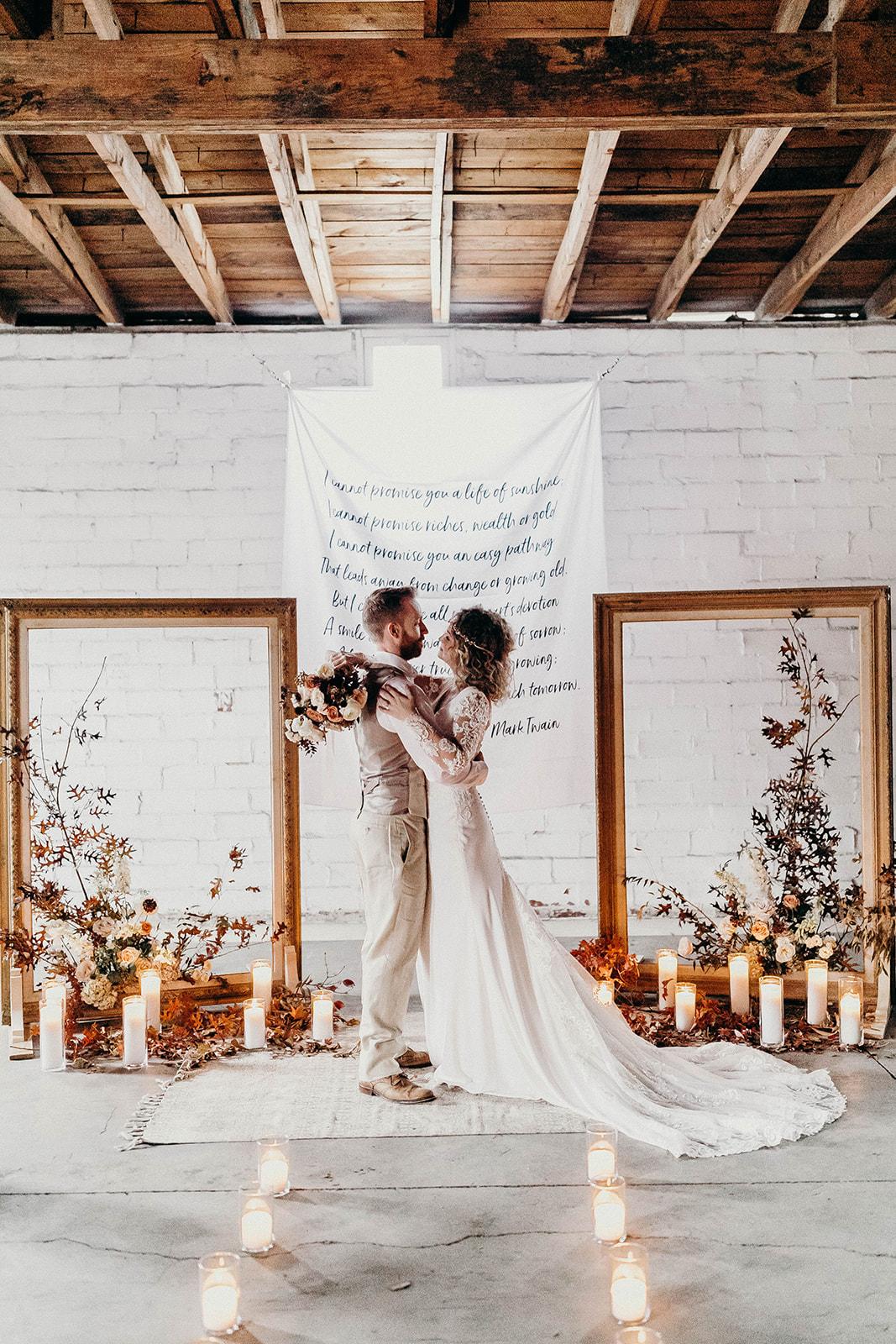Creative Wedding Ceremony Backdrop Ideas - originally published on ivoryandink.com