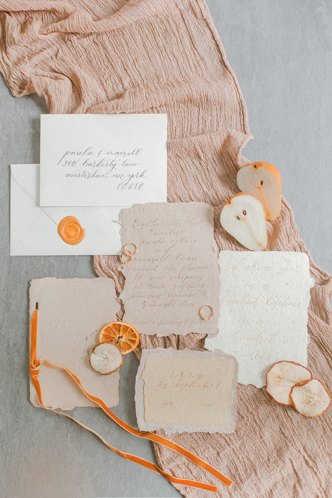 Dreamy Autumn Inspired Wedding Invitations - Kevin & Aly Photography
